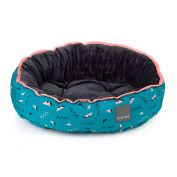 FuzzYard Dog Bed Sorrento Teal & Peach