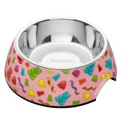 FuzzYard Dog Bowl Jelly Bears Pink