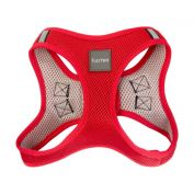 FuzzYard Dog Step In Harness Rebel Red