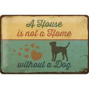 Nostalgic Art A House is not a Home Metal Sign Medium