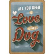 Nostalgic Art Love Dog Metal Sign