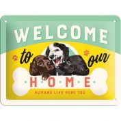 Nostalgic Art Welcome to our Home Metal Sign