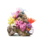 Kazoo Aquarium Ornament Soft Coral Garden With Rock Small
