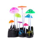 Kazoo Aquarium Silicone Plant Mushrooms Small
