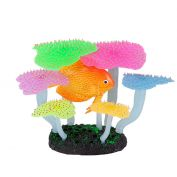 Kazoo Aquarium Silicone Plant Fluro Anemone With Discus Medium