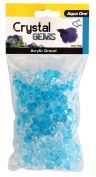 Aqua One Crystal Gems Acrylic Betta Gravel 145g 15mm Blue Ice