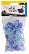 Aqua One Crystal Gems Acrylic Betta Gravel 145g 15mm Frosty Blue