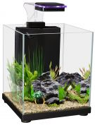 Aqua One Betta Sanctuary Glass Aquarium 10L 22.4W X 22.4D X 26.3cm H Black