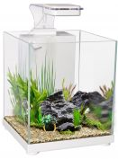 Aqua One Betta Sanctuary Glass Aquarium 10L 22.4W X 22.4D X 26.3cm H White