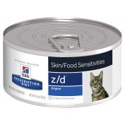 Hill's Prescription Diet z/d Skin/Food Sensitivities Canned Cat Food 24x156g