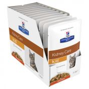 Hill's Prescription Diet K/D Chicken Pouches Feline 12x85g