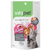 VitaPet Salmon Bites Cat Treat 85g
