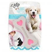 All For Paws Puppy Love Teething Latex Bone Pink