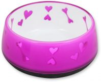 All For Paws Puppy Love Dog Bowl Pink