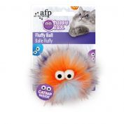 All For Paws Fluffy Ball Orange Cat Toy