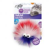 All For Paws Fluffy Ball Pink Cat Toy