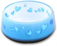 All For Paws Cat Love Bowl Blue