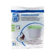 Catit Fresh & Clear Cat Drinking Water Fountain Foam Carbon Cartridges 3 Pack