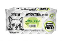 Absorb Plus Aloe Vera Antibacterial Pet Wipes 80 Pack