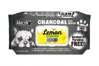 Absorb Plus Lemon Charcoal Pet Wipes 80 Pack