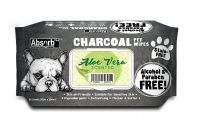 Absorb Plus Aloe Vera Charcoal Pet Wipes 80 Pack