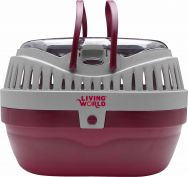 Living World Small Animal Carrier Large Burgundy/Grey
