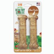 Nylabone Natural Healthy Edibles Peanut Butter Dog Treat Wolf 2 Pack