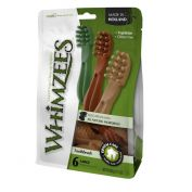 Whimzees Toothbrush Star Dog Treat Large 6 Pack
