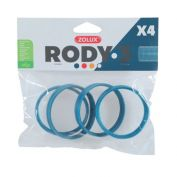 Zolux Rody 3 Accessories Connecting Ring Blue 4 Pack