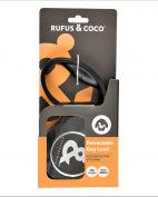Rufus & Coco Retractable Dog Lead Large Black