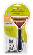Furminator Long Hair Medium Dog Deshedding Brush Metallic