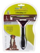 Furminator Long Hair Large Dog Deshedding Brush Metallic
