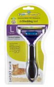 Furminator Short Hair Large Cat Deshedding Brush Metallic
