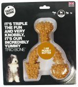 Tasty Bone Nylon Trio Peanut Butter Dog Chew