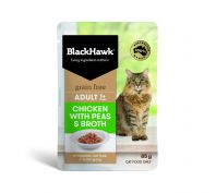 Black Hawk Adult Chicken with Peas & Broth Wet Cat Food 12x85g