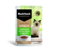 Black Hawk Kitten Chicken with Peas & Broth Wet Cat Food 12x85g