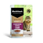 Black Hawk Adult Chicken with Lamb Wet Cat Food 12x85g