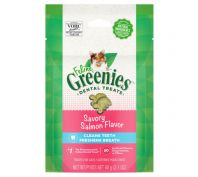 Greenies Feline Dental Treats Savory Salmon Flavour 60g