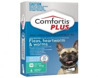 Comfortis Plus Green Dog Flea, Heart Worm & Worming 9.1-18kg 6 Pack