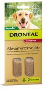Drontal Allwormer Chewables for Large Dogs 20.1-35kg 2 Pack
