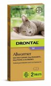 Drontal Ellipsoid Allwormer for Cats and Kittens up to 4KG 2 Tablets
