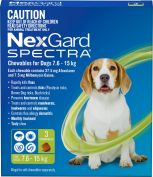 Nexgard Spectra Green For Medium Dogs 7.6 -15kg