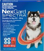 Nexgard Spectra Red For Very Large Dogs 30.1-60kg