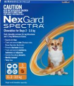 Nexgard Spectra Orange For Very Small Dogs 2-3.5kg