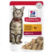 Hill's Science Diet Adult Optimal Care Chicken Cat Food Pouches 12x85g
