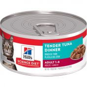 Hill's Science Diet Adult Tender Tuna Dinner Canned Cat Food 156g x 24