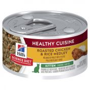 Hill's Science Diet Kitten Healthy Cuisine Chicken & Rice Medley Canned Cat Food 79g x 24