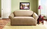 Sure Fit Stretch Pearson 2 Seater Sofa Cover Dark Flax