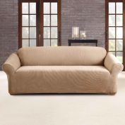 Sure Fit Stretch Pearson 3 Seater Sofa Cover Dark Flax