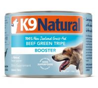 K9 Natural Canned Beef Green Tripe Booster Dog Food 24x170g
